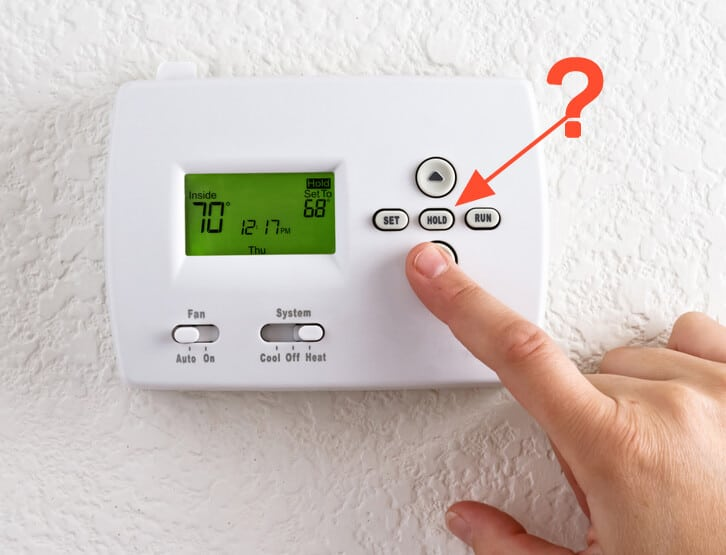 what does hold mean on my thermostat